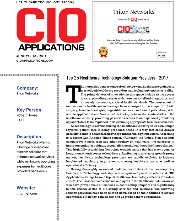 CIO Applications article Page 1